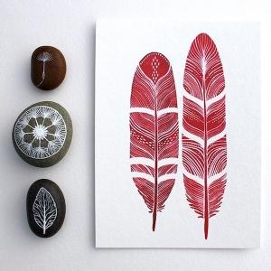 漂亮的创意插画:一片羽毛一片森林