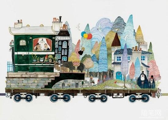 插画:火车上的故事 (3)