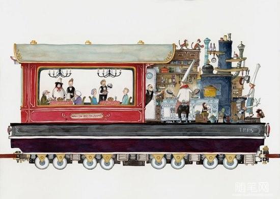 插画:火车上的故事 (6)