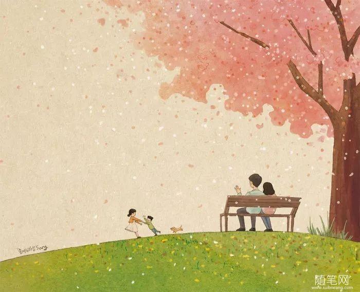 暖心插画:有你的陪伴,童年从来不孤单