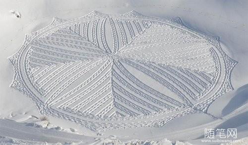 雪地里的麦田怪圈 (1)